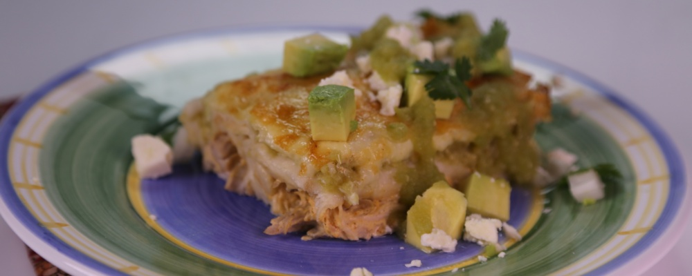 Green Chile Chicken Enchiladas Recipe by Michael Symon - The Chew