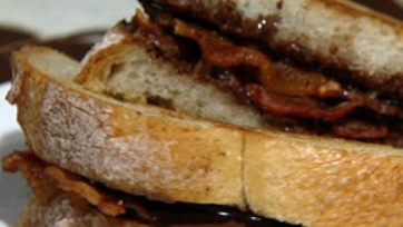 Grilled Bacon, Chocolate, and Hazelnut Sandwich