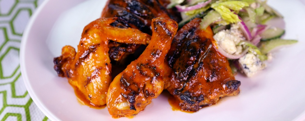 Grilled Buffalo Chicken with Crunchy Celery Salad Recipe by Clinton ...