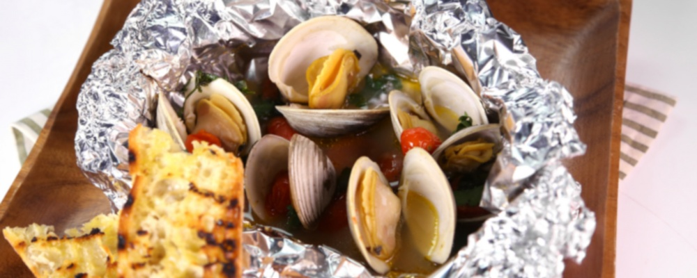 Grilled Clams with Chorizo