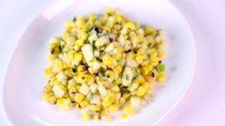 Grilled Corn with Tarragon and Chive Vinaigrette