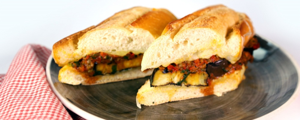 Grilled Eggplant Parm Sub Recipe by Mario Batali - The Chew