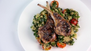Grilled Lamb Chops with Lavender Salt