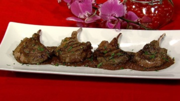 Grilled Lamb Chops with Mexican Chocolate
