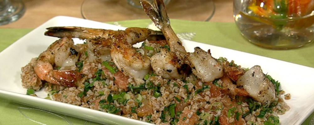 Grilled Shrimp with Grapefruit Salad