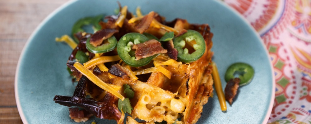 Herb Crusted Mac 'n' Cheese Waffles Recipe by Tamika Frye - The Chew