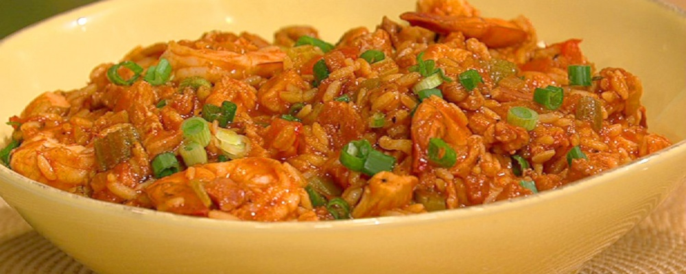John Besh\'s Shrimp, Chicken, and Andouille Jambalaya