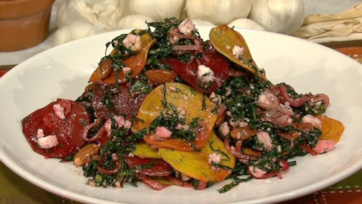 Michael Symon Kale Salad with Shaved Beets, Feta and Toasted Almonds 5 ...