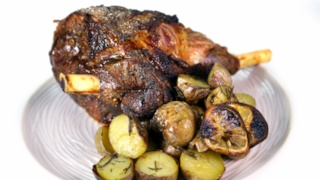 Leg of Lamb with Lemon Potatoes