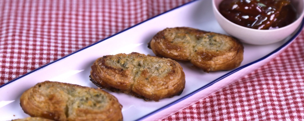 Lemon-Thyme Palmiers Recipe by Carla Hall - The Chew