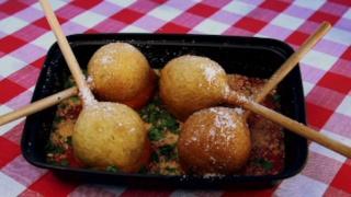 Mangia Mangia\'s Meatball Lollipop