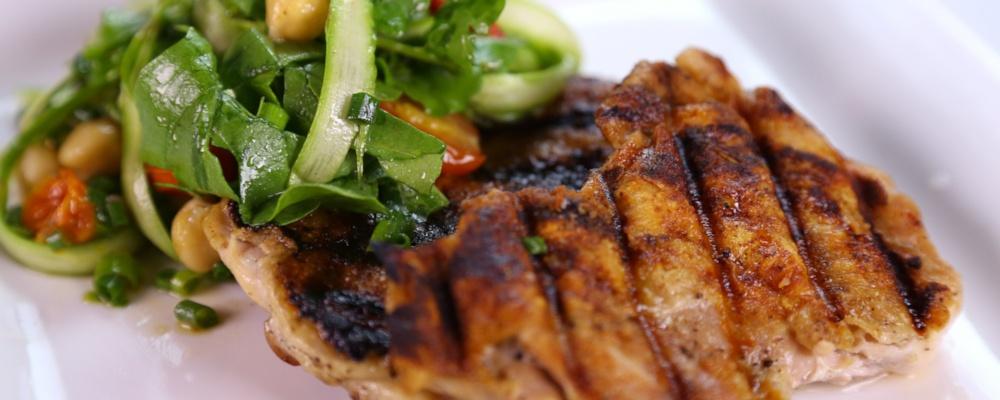 Mario Batali\'s Chicken Paillard with Spring Salad