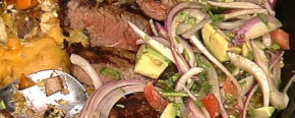Mario Batali\'s Chilequilles with Chili-rubbed Sirloin