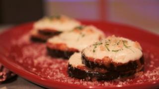Mario Batali\'s Eggplant Parm Stacks