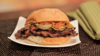 Mario Batali\'s Korean-Style Short Rib Sandwich