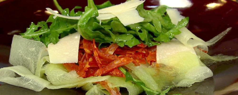 Mario Batali's Melon Carpaccio Recipe by Mario Batali - The Chew