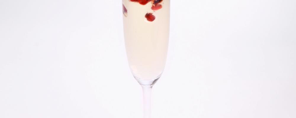 Mario Batali\'s Pomegranate Prosecco Gelatina