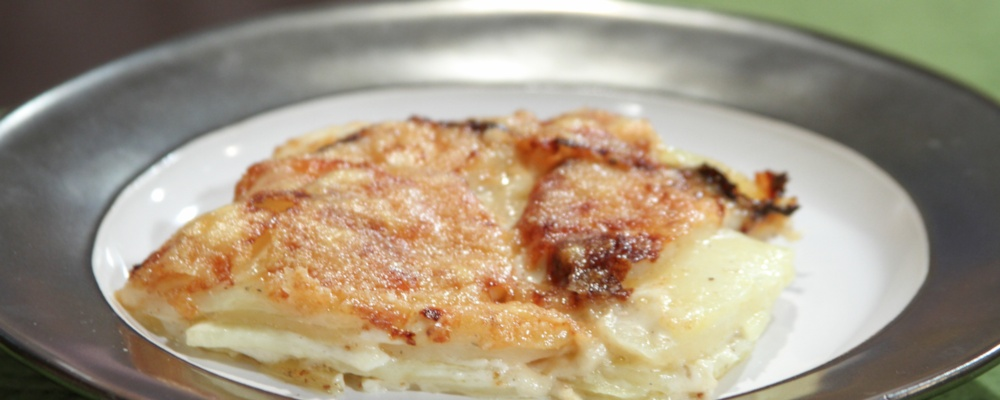 Mario Batali\'s Potato Gratin with Black Truffles