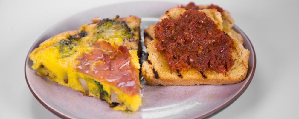Mario Batali\'s Prosciutto and Potato Frittata