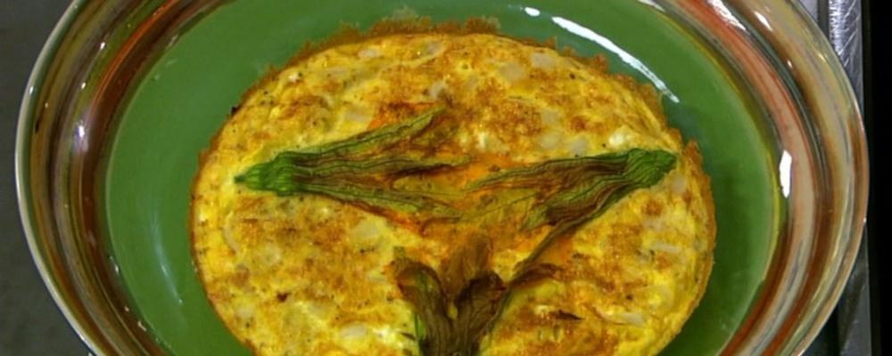 Mario Batali\'s Squash Blossom Frittata
