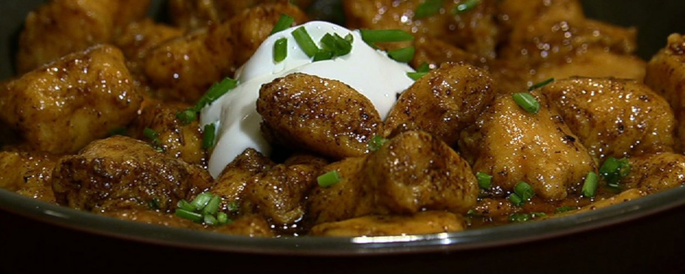 Mario Batali\'s Sweet Potato Dumplings with Red Eye Gravy