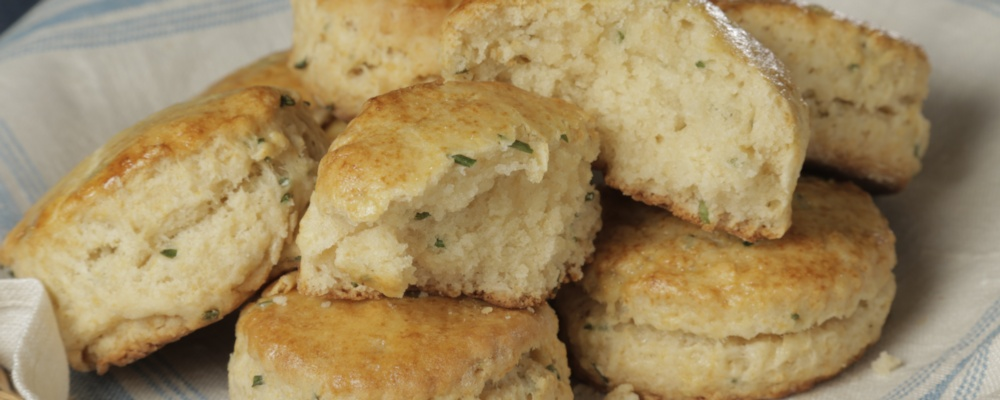Mario\'s Makeover: Chive and Honey Biscuits