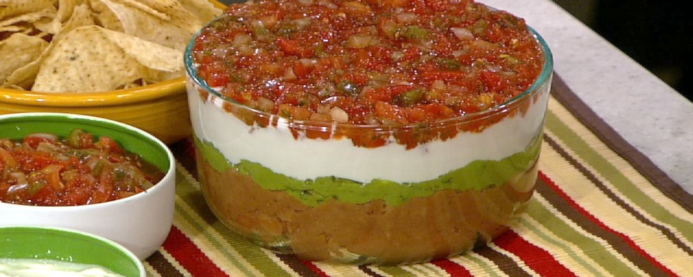 Mexican 5-Layer Dip Recipe by Carla Hall - The Chew