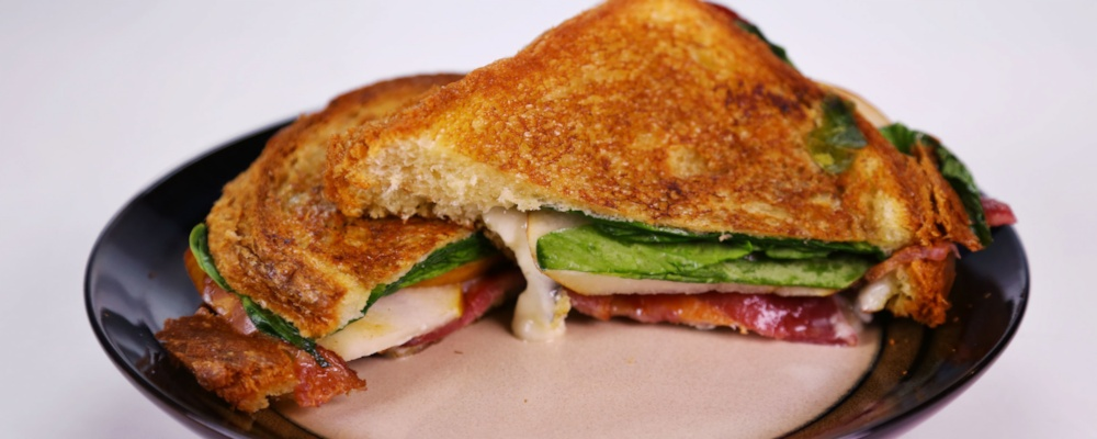 Michael Symon's Bacon, Blue Cheese, and Pear Grilled Cheese Recipe by ...