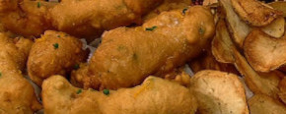 Michael symon 39 s beer battered fish and chips recipe by for Beer battered fish and chips recipe
