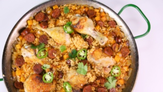 Michael Symon\'s Chicken and Chorizo Paella
