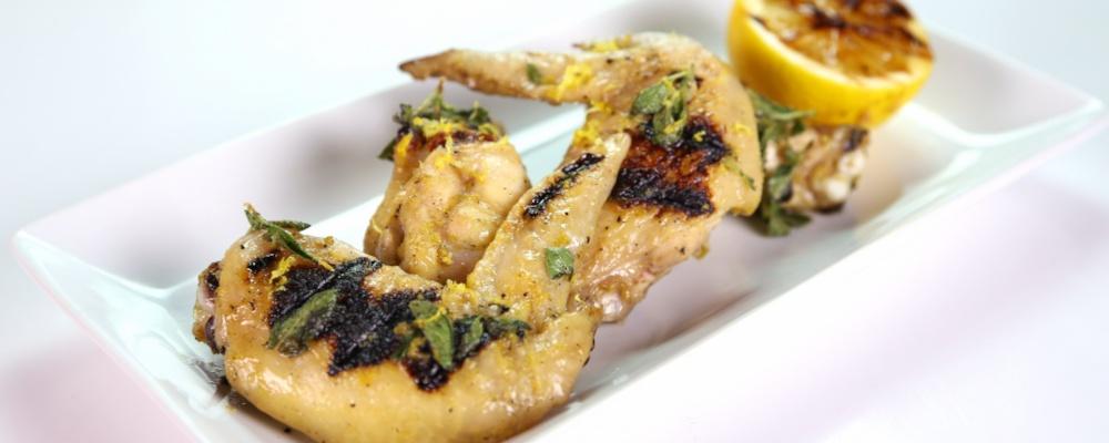 Michael Symon\'s Grilled Lemon Oregano Chicken Wings
