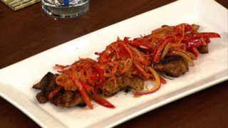 Michael Symon\'s Mustard Soy Chicken with Carrot Slaw