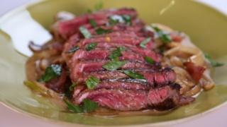Michael Symon\'s Pan Seared Strip Steak