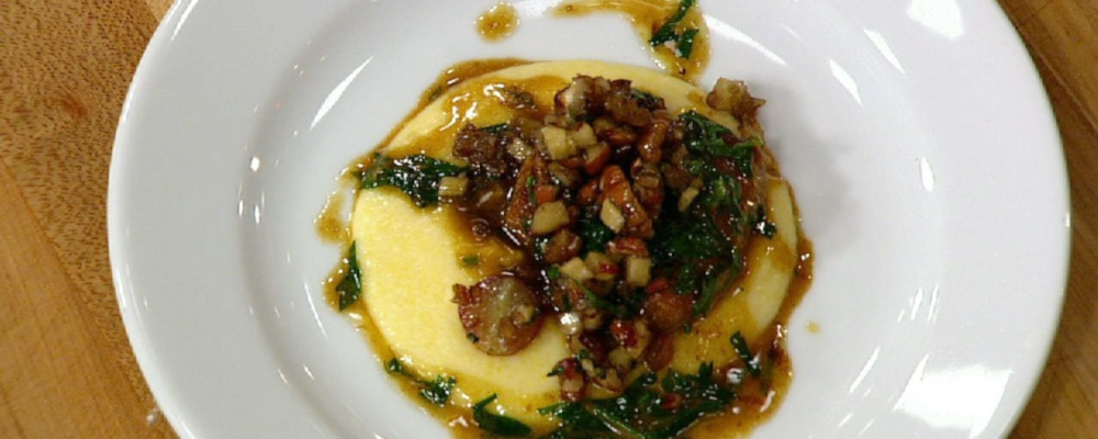 Michael Symon\'s Pork Medallions with Bourbon Pecan Chutney