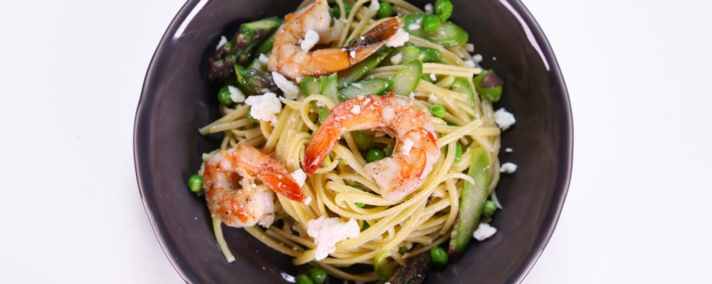 Michael Symon\'s Shrimp and Spring Vegetable Pasta