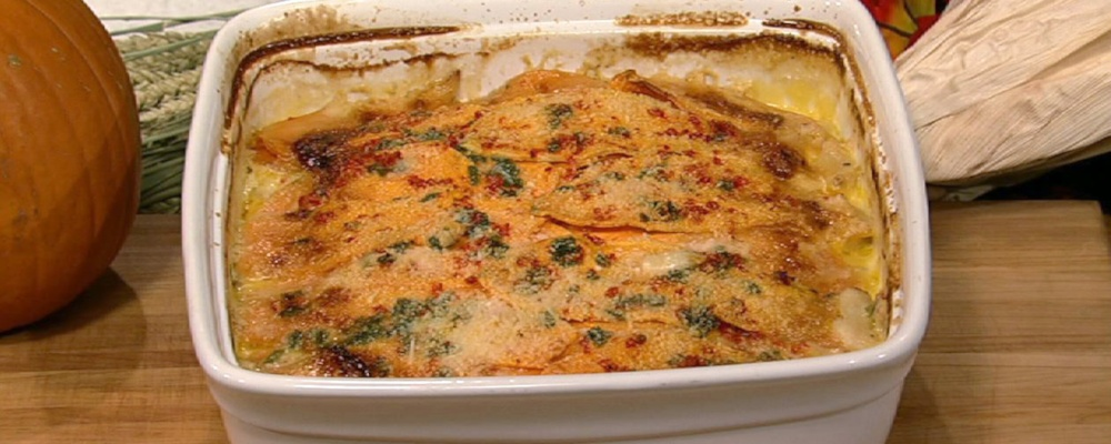 Michael Symon\'s Sweet Potato Gratin