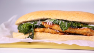 Michael Symon\'s Turkey Cutlet with Broccoli Rabe
