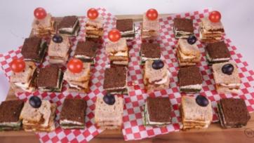Mini Sandwich Checkerboard