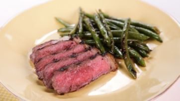 Music City Steak with Grilled Green Beans