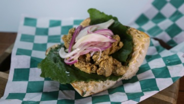 Oyster Po Boy with Pickled Fennel and Onions