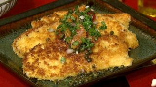 Pan Fried Chicken with Brown Butter Caper Sauce