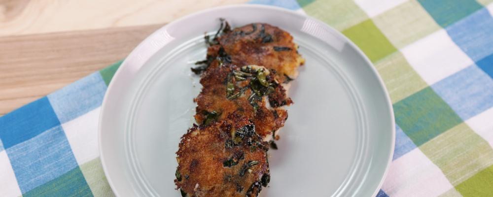 Parmesan Kale & Potato Cakes Recipe by Michael Symon - The Chew