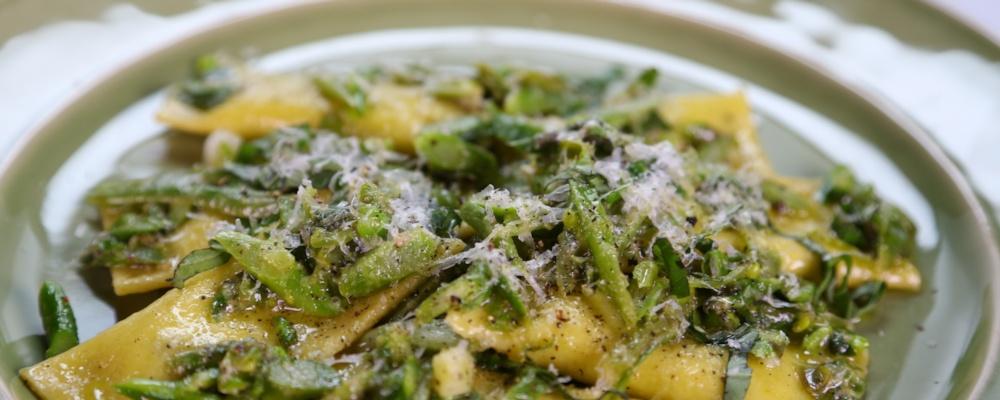 Pasta Primavera Mascarpone Ravioli