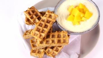 Peaches-n-Cream Waffle Dunkers