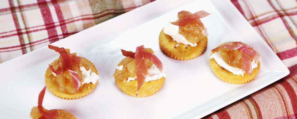 Pear Compote with Goat Cheese & Prosciutto Recipe by Clinton Kelly ...