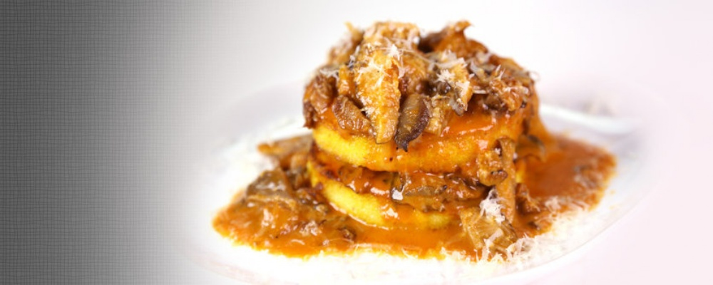 Polenta & Mushroom Ragu Towers Recipe by Clinton Kelly - The Chew