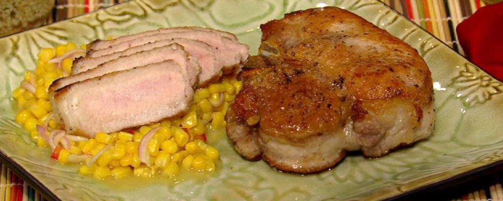 Pork Chops with Chow Chow
