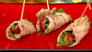 Pork Paillard Rollups