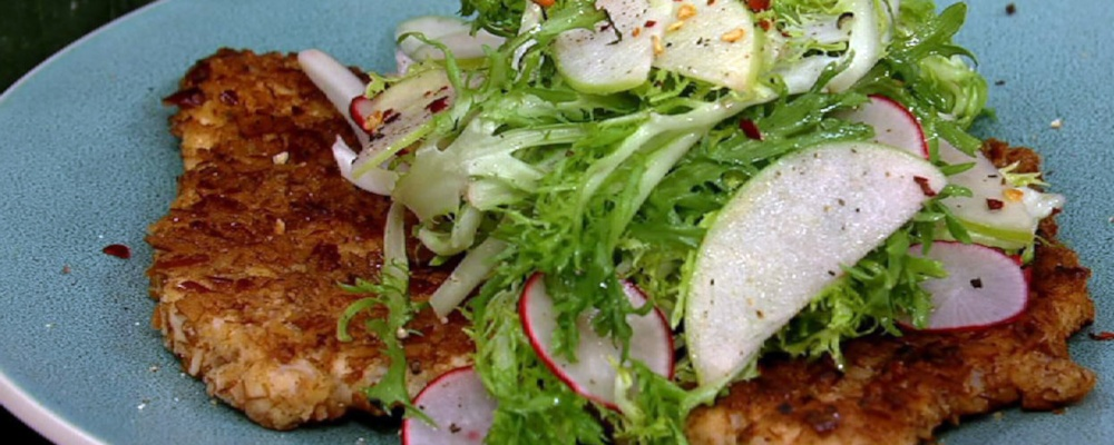 Pretzel Crusted Pork Cutlets
