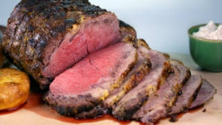 Prime Rib with Dijon and Whipped Horseradish Cream